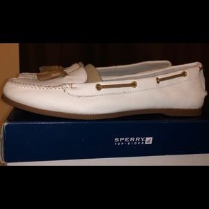 Shoes - Sperry Top-Sider Women's White loafer Sz 11